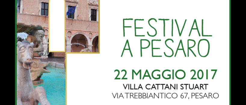 il Festival del Franciacorta si terrà il 22 Maggio a Pesaro all'hotel Villa Cattani Stuart con degustazioni e banchi d'assaggio