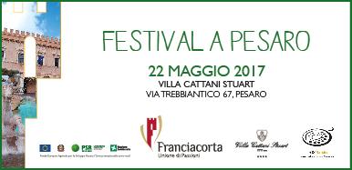 il festival del franciacorta si terrà all'hotel Villa Cattani Stuart a Pesaro