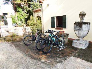 parcheggio esterno della bike room