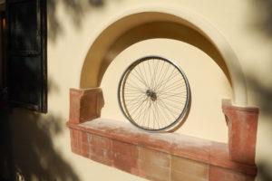 Dettaglio esterno alla bike room