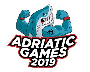 Logo degli Adriatic Games 2019 a Pesaro