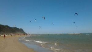 Battigia della spiaggia di Pesaro