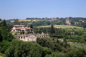foto panoramica di villa cattani stuart, pesaro, marche