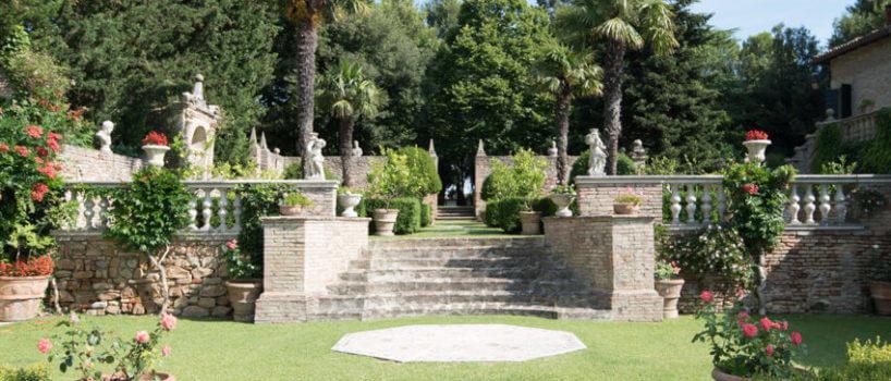parco di Villa Cattani Stuart a Settembre
